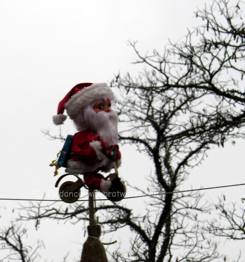 Santa on a bike...