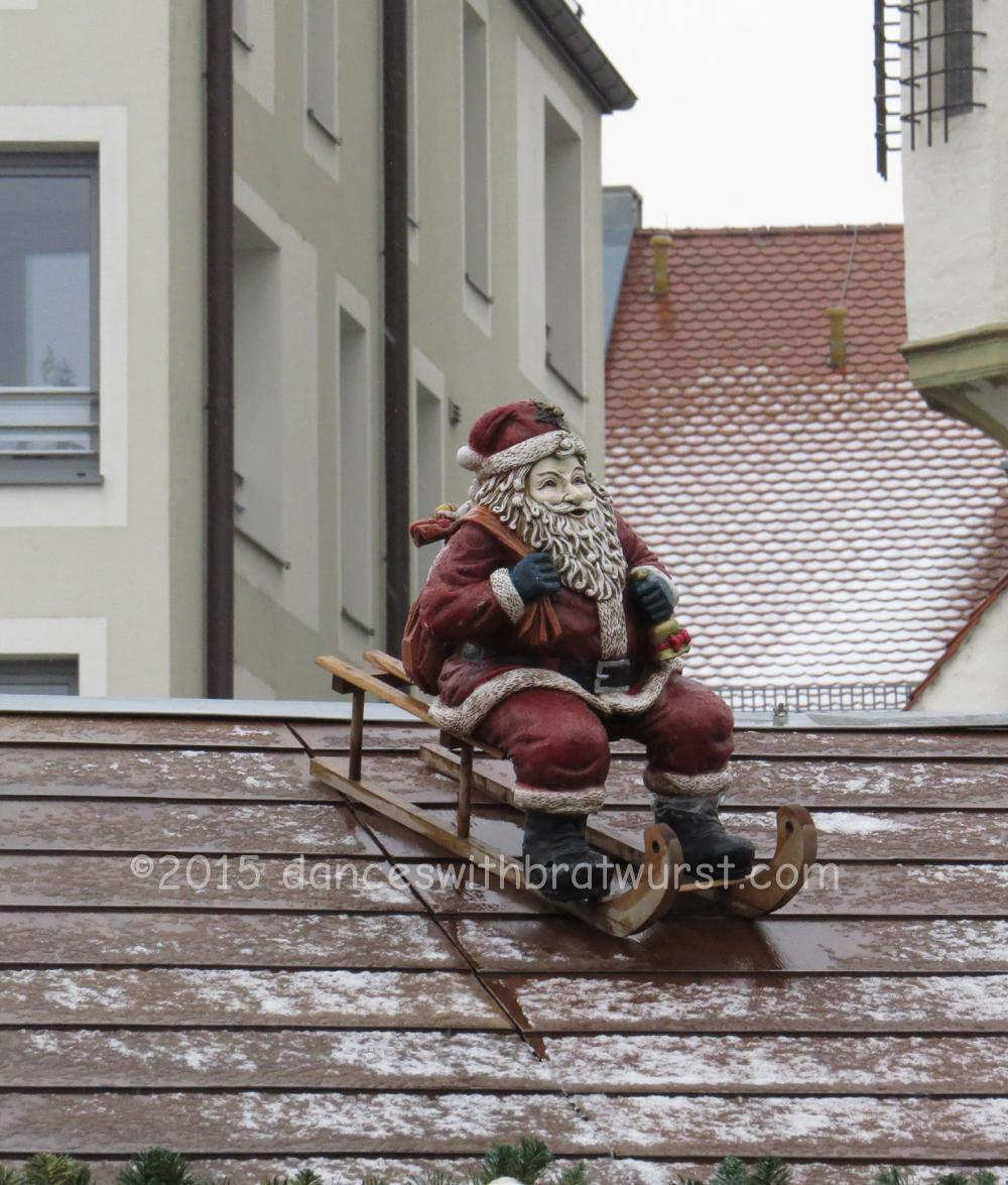 Santa on a sled...