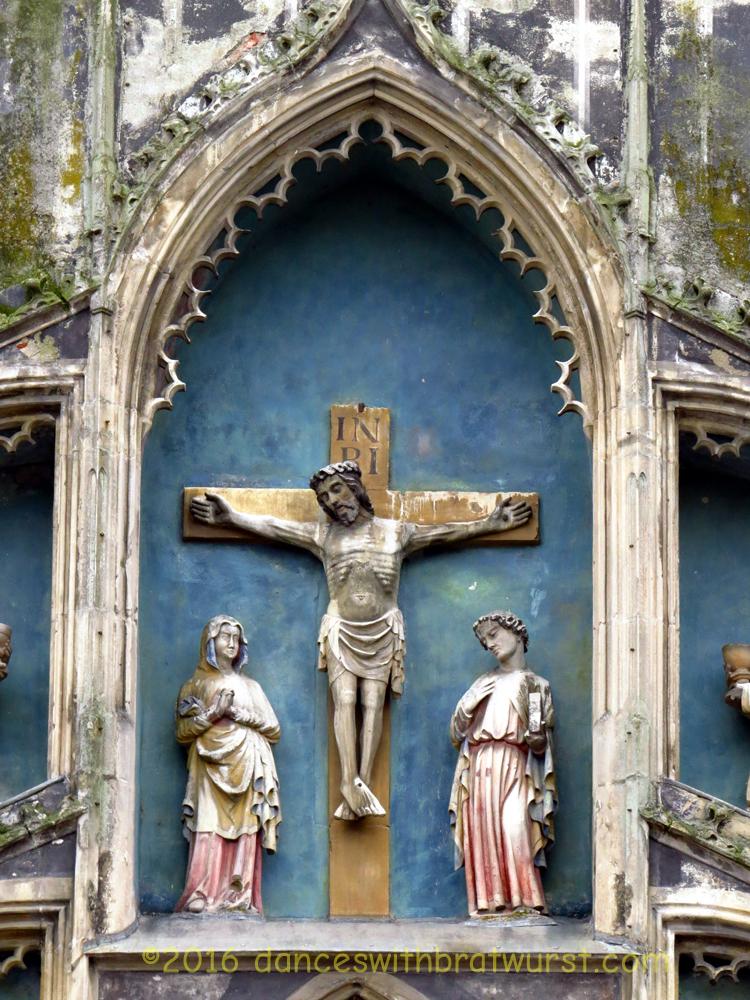 Crucifixion scene at the Bayertor