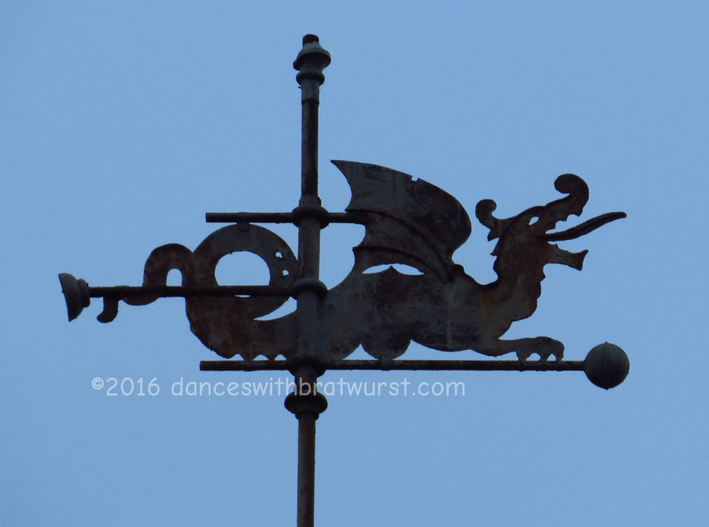 Most of the dragons in Bavaria are having a bad day, but this one seems fairly happy.