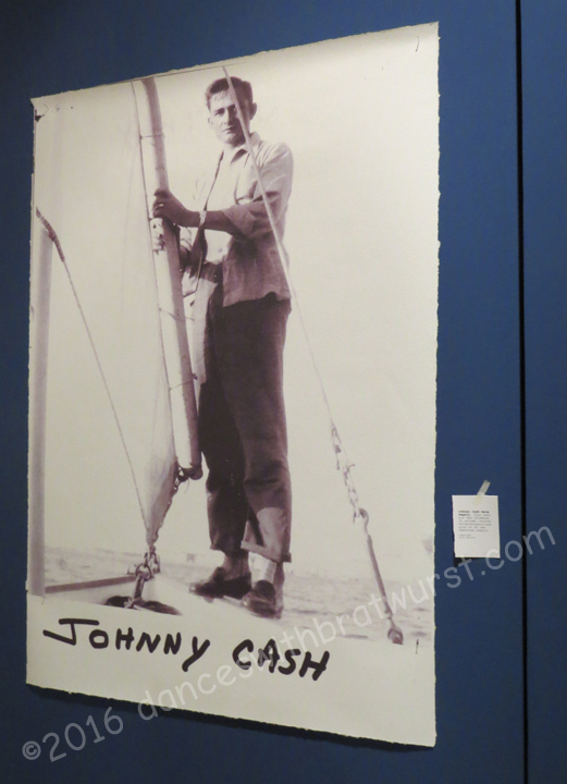 Exhibition photo of Johnny Cash on the Chiemsee.