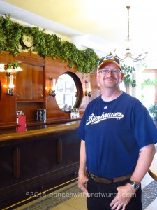Unlike Milwaukee brewery tours, we were not offered a glass of beer while we waited for the guide.