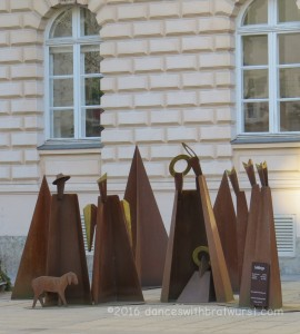 Modern Nativity Scene (Krippe) by the Tyrolean State Museum.