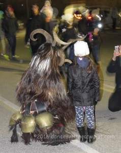 Here you can see the giant bells worn by the Krampus. They seemed to be intentionally tuned to be discordant.