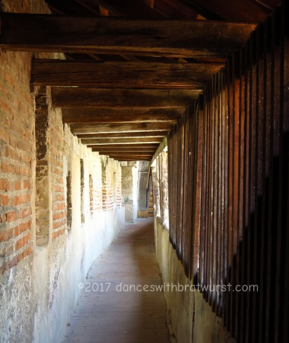 View of inside the medieval defense wall.