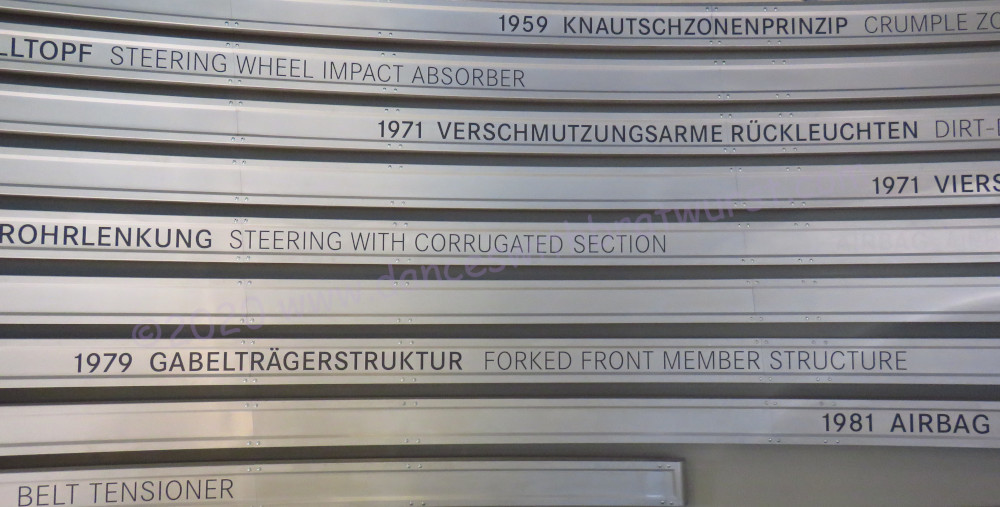 A wall of words in German and English.